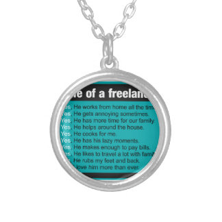 Wife Of A Freelancer Silver Plated Necklace