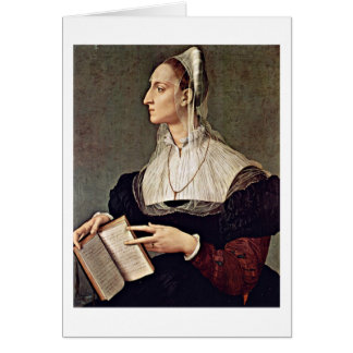 Wife Of Sculptor Bartolomeo By Angelo Bronzino Greeting Card
