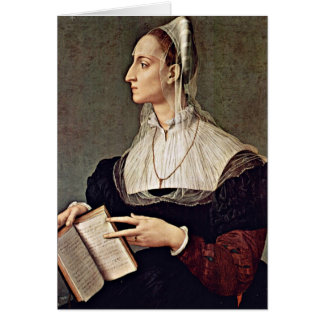 Wife Of Sculptor Bartolomeo By Angelo Bronzino Greeting Cards