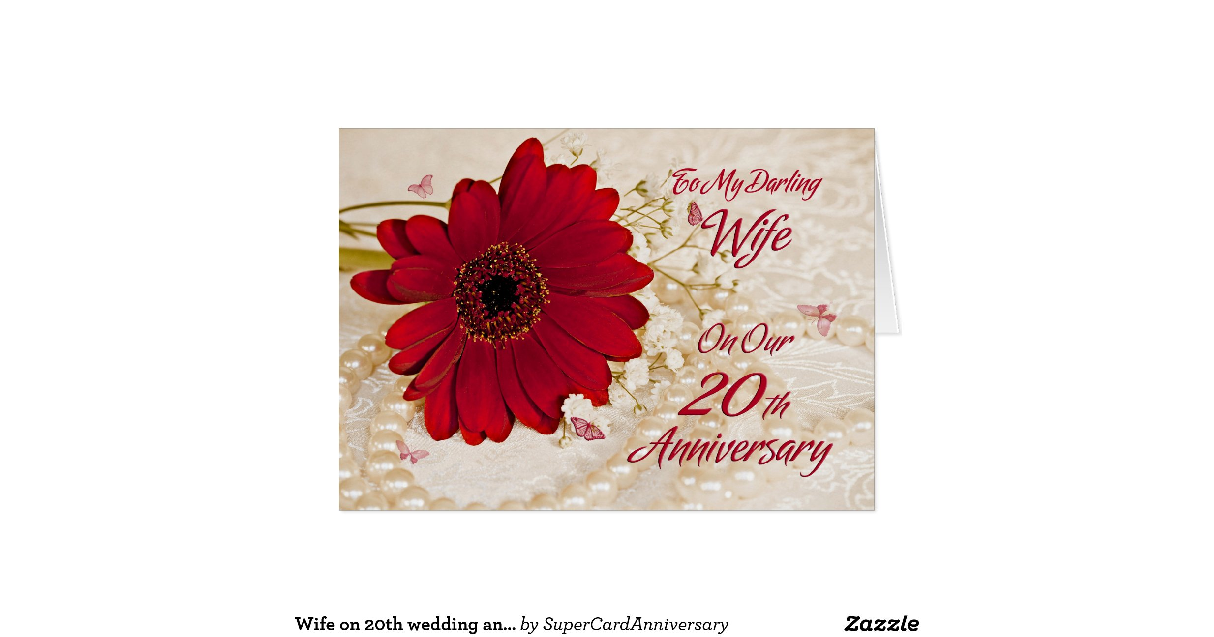 20th wedding anniversary flower on 20th wedding anniversary a flower greeting 1061