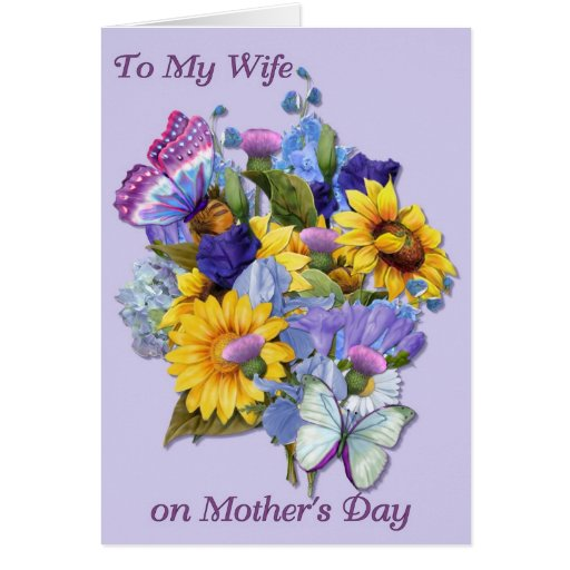 Wife on Mother's Day Card