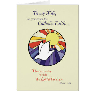 Wife RCIA Catholic Dove Sun Circle, Rite of Christ Card