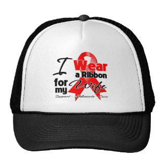 Wife - Red Ribbon Awareness Trucker Hat