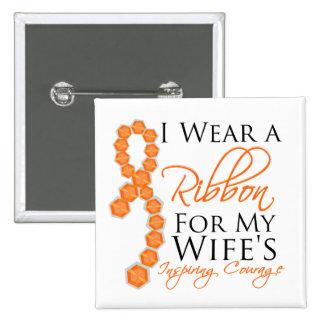 Wife s Inspiring Courage - Leukemia Button
