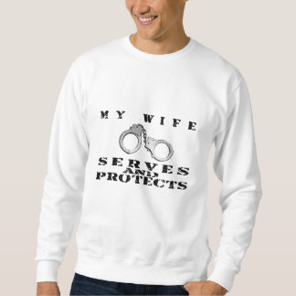 Wife Serves Protects - Cuffs Sweatshirt