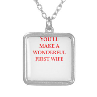 WIFE SILVER PLATED NECKLACE