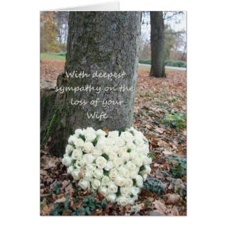 wife  Sympathy card with Roses