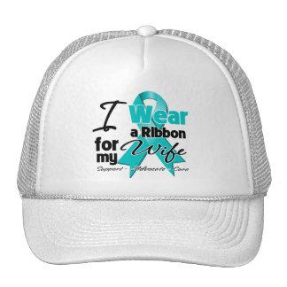 Wife - Teal Awareness Ribbon Trucker Hat