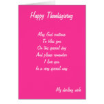 Wife thanksgiving cards
