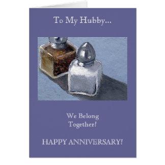 Wife to Husband: Salt and Pepper: Belong Together Card