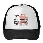 Wife - Uterine Cancer Ribbon Mesh Hat