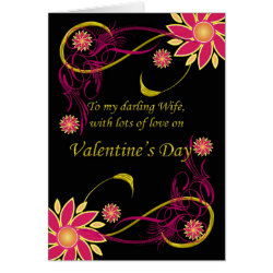 Wife With Love On Valentine's Day, Valentine's Day Card