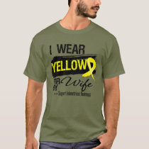 Wife Yellow Ribbon Endometriosis T-Shirt
