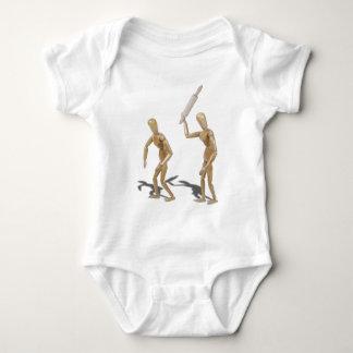 WifeHusbandRollingPin060411 Baby Bodysuit