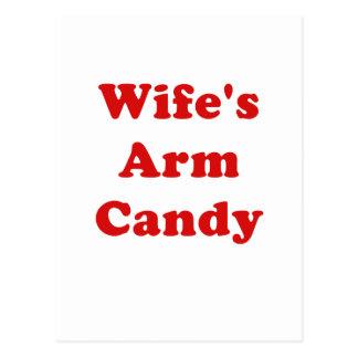 Wifes Arm Candy Postcard
