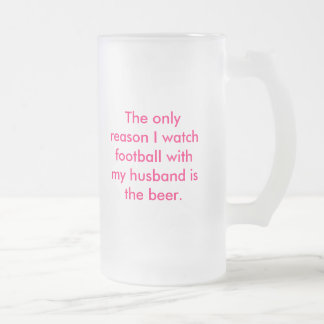Wife's beer glass frosted glass beer mug