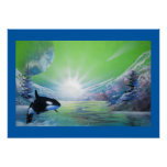 Wifes favourite whale picture poster print