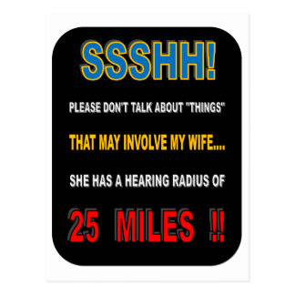 WIFE'S JUNGLE DRUMS! POSTCARD