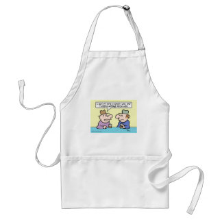 Wife's smart car hides from her. apron