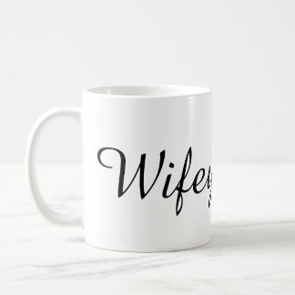 Wifey bride to be bachelorette party shower gift classic white coffee mug
