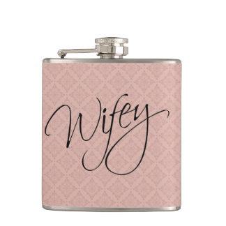 Wifey Calligraphy Hip Flask