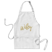 Wifey Faux Gold Foil Apron Wedding Gift