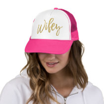 Wifey Gold Foil and Pink Trucker Hat