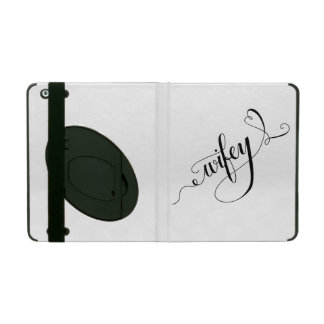 Wifey Hand Written Lettering Calligraphy Heart iPad Covers