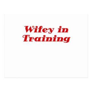 Wifey in Training Postcard