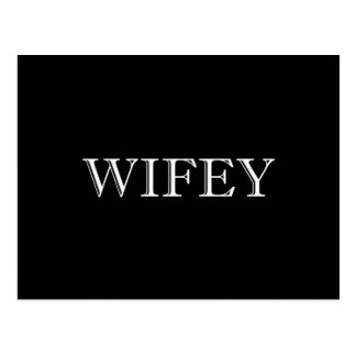 Wifey Married Couple Postcard