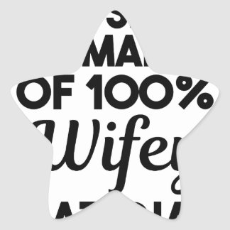 Wifey Material Star Sticker