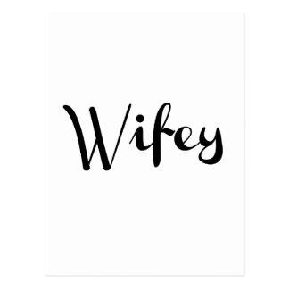 Wifey - Newlywed Funny Postcard