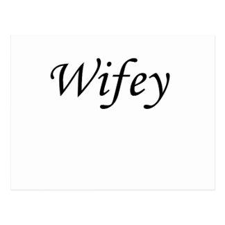 wifey postcard