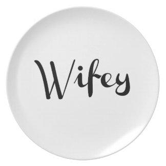 Wifey - recién casado divertido platos