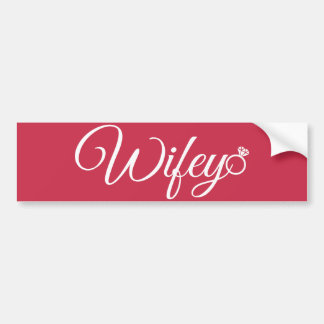 Wifey ring car bumper sticker