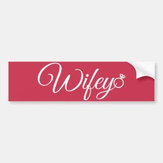 Wifey ring bumper sticker