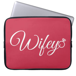 Wifey ring laptop sleeve