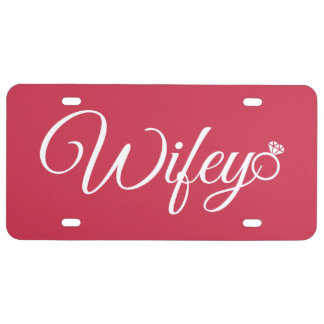 Wifey ring license plate
