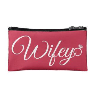 Wifey ring makeup bags