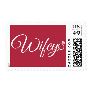 Wifey ring postage stamp