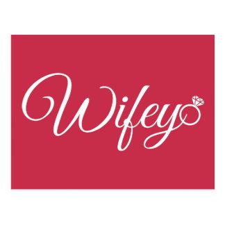 Wifey ring postcard