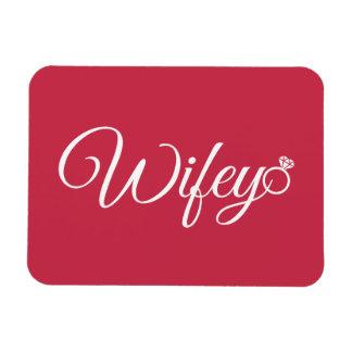 Wifey ring rectangular photo magnet