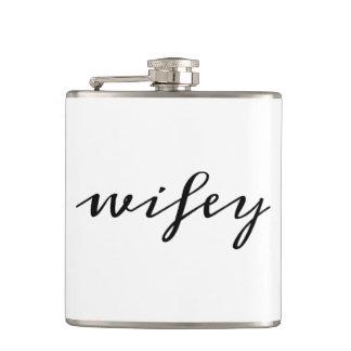 Wifey script hip flask