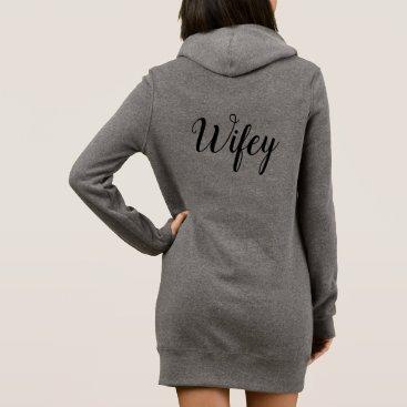 Bride Themed Wifey Sweatshirt Dress