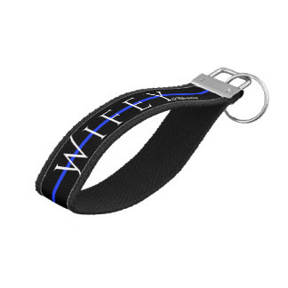 Wifey Thin Blue Line Police Wife Officer Key Chain