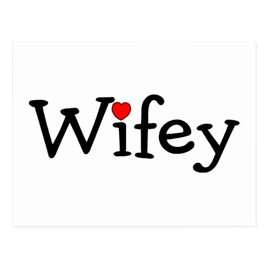 Wifey with Heart Postcard