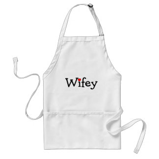 Wifey with Red Heart Adult Apron