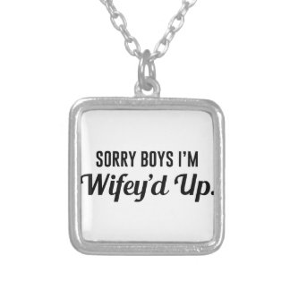 Wifey'd Up Silver Plated Necklace
