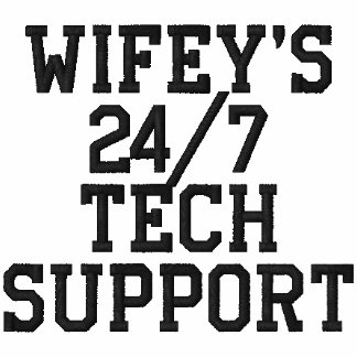 Wifey's 24/7 Tech Support Embroidered Polo