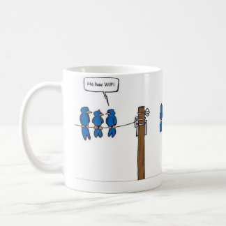 wiffi fuuny classic white coffee mug